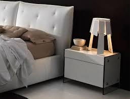 contemporary bedside furniture. porto lujo contemporary bedside cabinet glass sides in various colours furniture p