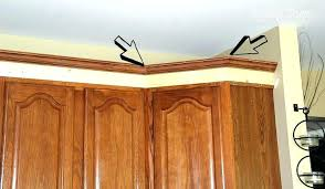 how to cut crown molding for cabinets