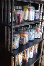 diy organizing ideas for kids rooms jar storage for art materials easy storage projects