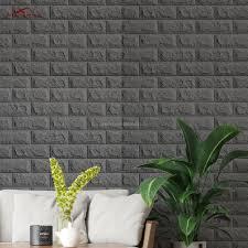 White Self Adhesive Pe Foam 3d Brick ...