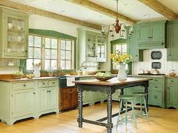 French Provincial Kitchen Designs Antique Iron Chandelier With Rustic Island Table For French