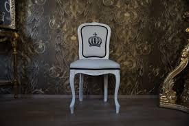 Pompöös By Casa Padrino Luxus Barock Esszimmerstuhl Weiß