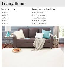 living room sizing guide and furniture measurements