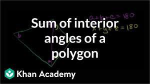 Interior Angles Chart Sum Of Interior Angles Of A Polygon Video Khan Academy