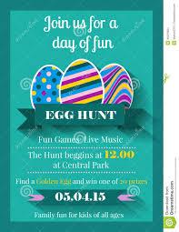 invitation flyer info easter invitation flyer stock vector image 48224684