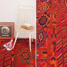 vintage kilim rug handmade pink orange red rug traditional h