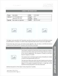Internal Investigation Report Template Criminal Incident