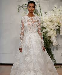 long sleeve wedding dresses at bridal fashion week spring 2018