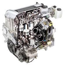 stock automotive illustration 4 cylinder engine cutaway