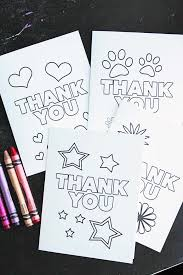 Printable Thank You Cards For Teachers Free Printable Thank You Cards For Kids To Color Send