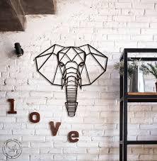 metal wall art geometric animals