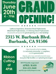 bar grand opening flyer our grand opening laroccainspect