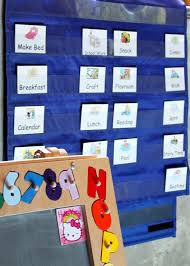 Free Printable Pocket Chart Cards How To Schedule A Childs Day With Printable Free Cards