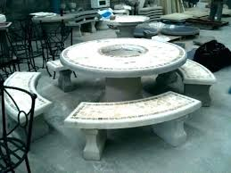 concrete patio furniture outdoor table set goods home round