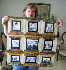 183 best Memory quilts images on Pinterest | Framed fabric ... & Photo Memory Quilt Designs | Quilt Patterns by Jean Boyd: Fibre Friends Adamdwight.com