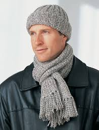 Mens Beanie Knitting Pattern Best Men's Winter Hat And Scarf FaveCrafts