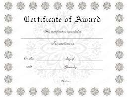award certificates template snow flower award certificate template