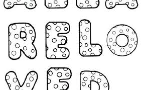 Big Bubble Letters Large Printable Alphabet Coloring Pages For Adults Quotes Halloween