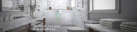 ella acrylic two seat walk in tubs