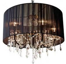 White fabric shade crystal modern drum Black Lifestylegranolacom Discount Chandelier Lamp Shades Brilliant Throughout