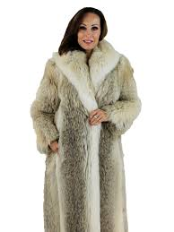 woman s coyote fur coat with shadow fox trim