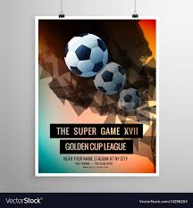 soccer team brochure template abstract football soccer game flyer template vector image