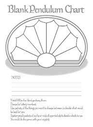Blank Pendulum Chart Book Of Shadows Pendulum Board Magick