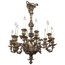 19th c french bronze chandelier with oak leaf motif at 1stdibs