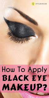 how to apply black eye makeup