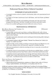 Professional Resume Writer All About Letter Examples