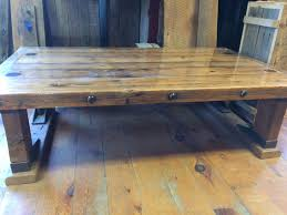 custom made reclaimed railroad car oak coffee table