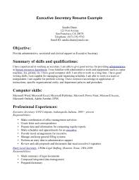 Executive Secretary Resume Samples And Secretary Resume Job