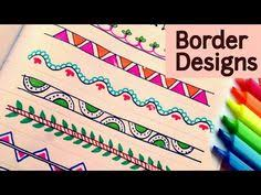 How To Decorate A Chart Paper Border 9 Best Radha Images Page Borders Design Border Design