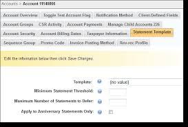 account statement templates statement templates aria developer central