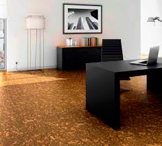 home office flooring. Flooring Ideas, Fascinating Modern Home Office WIth Natural Cork Also Smooth Look Interior: