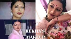 rekha makeup tutorial decoding 80 s bollywood makeup techniques 2018 part 1