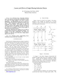 pdf causes and effects of single phasing induction motors