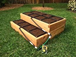 tiered raised garden kit w irrigation bed cedar 3 tier flower