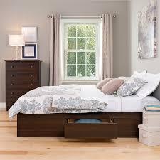 Prepac Bedroom Furniture Prepac Ebd 5600 Espresso Double Platform Storage Bed 6 Drawers