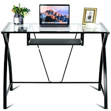 glass laptop desk clear glass computer table top office laptop desk with pull out 3 glass desk laptop heat