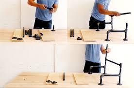 homemade modern diy ep3 wood and iron table step 3
