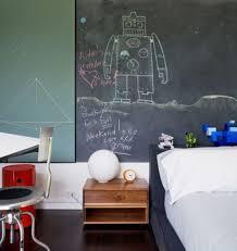 Cool Boyu0027s Bedroom With Chalkboard Wall