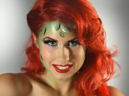 poison ivy makeup tutorial red lips for garden dess makeup tutorial