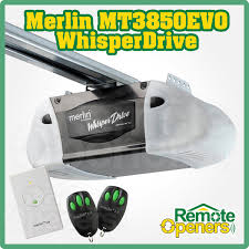 merlin mt3850evo whisper drive sectional tilt garage door opener with 3m segmented belt rail