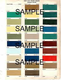 1988 Ford Truck Dupont Color Paint Chip Chart All Models