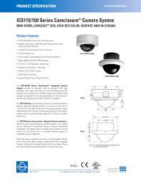 ics110 150 series camclosure � camera system pelco pdf Pelco Mounts Arm at Pelco Spectra Iv Wiring Diagram