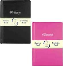 Birthday And Address Book Pack Of 3 Birthday Address Flip Over Book Assorted Colours
