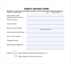 Direct Deposit Template Free Free Direct Deposit Form Template Word