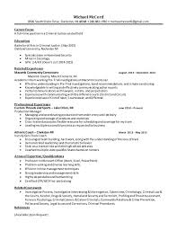 Criminal Justice Resume 7 6 8 2015 Michael Mccord 8506 South Shore