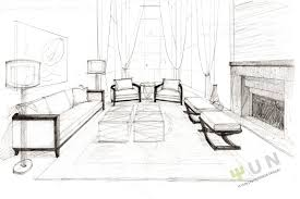 interior design living room drawings.  Drawings Yiu0027s Fantasia Sweet Water Project Interior Design Living Room Sketch To Drawings Pinterest